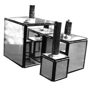 Bilde av Cube Speil lysestake set a 3
